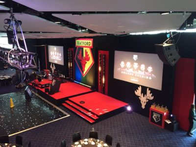 Awards evening event for Watford Football Club