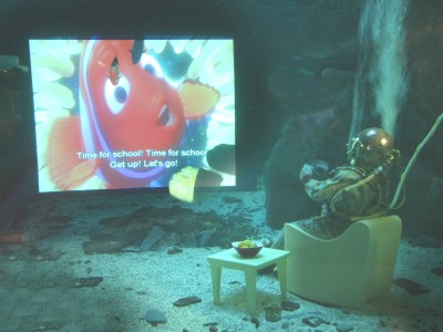 Nemo on a flat screen Tv