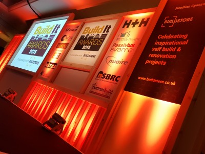 Conference stage for the Build It Awards 2015