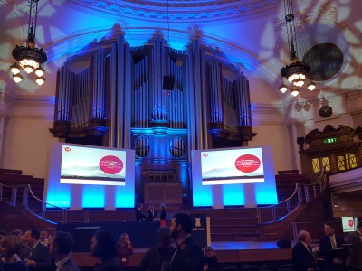 ARMA's 20th annual conference stage with two big screens