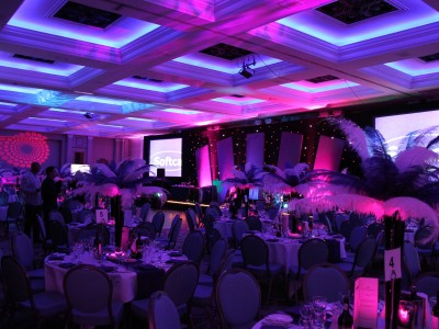 Creative lightings and an event design setup