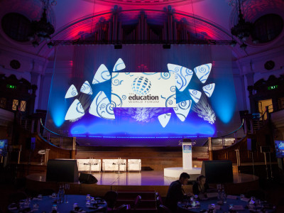 Gala night and dinner with mood lights at The Education World Seminar
