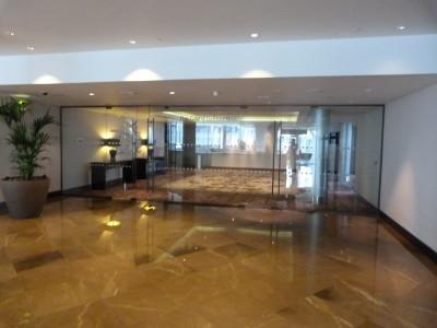 The Grand Ballroom glasswall at Hilton Wembley Hotel