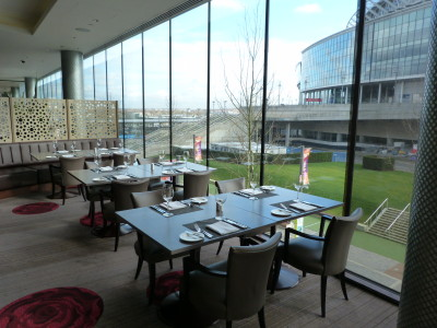 Hilton Wembley restaurant area
