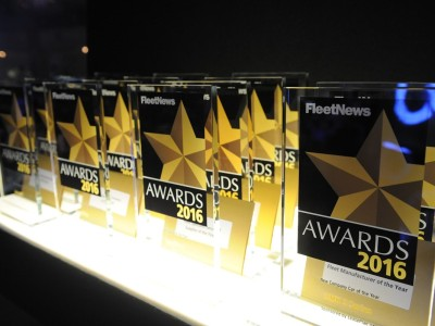Trophies at the Fleet News Awards 2016