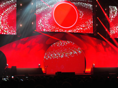 Coca Cola event stage and lightings in Manchester Central