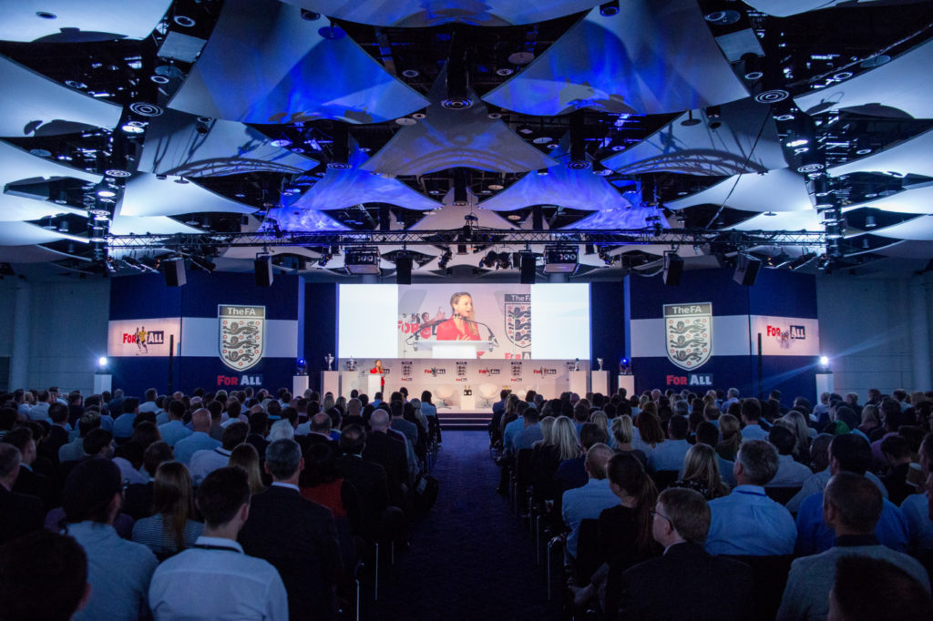Live event for the FA with full set design, projection screens and audio-visual production